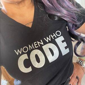 Women who code graphic badass tee